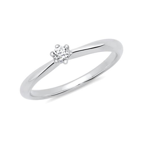 Exklusiver Verlobungsring Silber Zirkonia