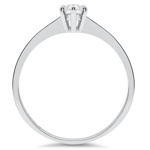 Verlobungsring 14K Weißgold mit Brillant 0,2 ct.