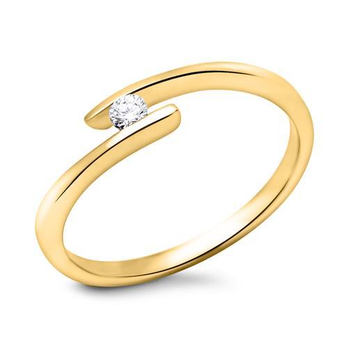 750er Gold Verlobungsring mit Brillant 0,05 ct.
