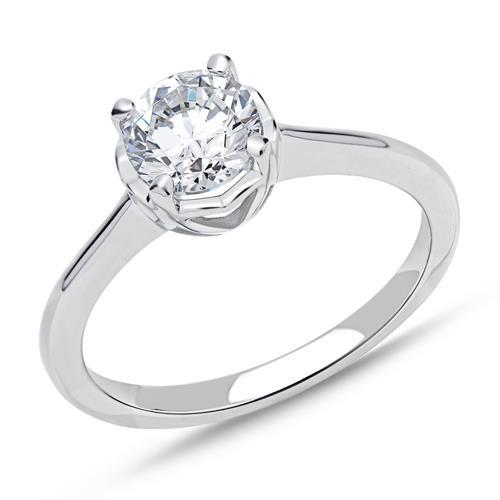 925 Silber Verlobungsring Herzen Zirkonia