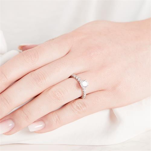 Verlobungsring 925er Silber Zirkonia