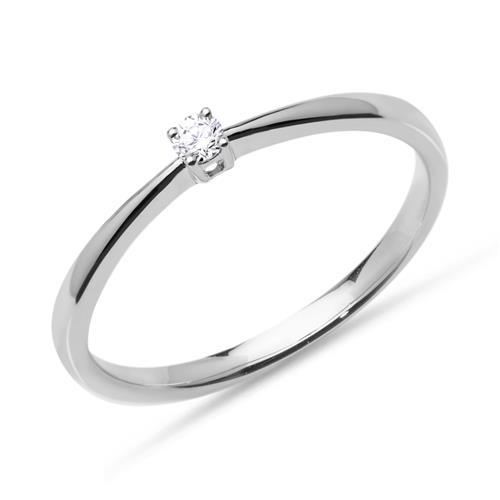 Verlobungsring 585er Weißgold 1 x Diamant 0,05 ct