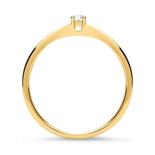 Verlobungsring 1x Diamant 0,05 ct 585er Gelbgold