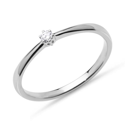 Diamant Verlobungsring 0,05 ct 585er Weißgold
