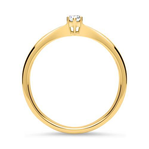 Verlobungsring 585er Gelbgold Diamant 0,05 ct