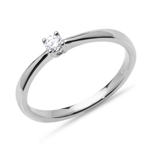 Verlobungsring 0,10 ct Diamant 585er Weißgold