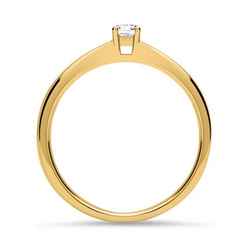 Verlobungsring 585er Gelbgold Diamant 0,10 ct