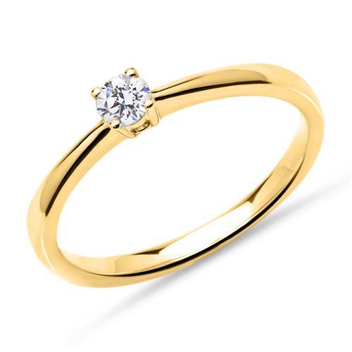 Artikel klicken und genauer betrachten! - 585er Gold Verlobungsring Diamant 0,15 ct., lab-grown | im Online Shop kaufen
