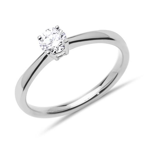 Verlobungsring 0,25 ct 585er Weißgold Diamant