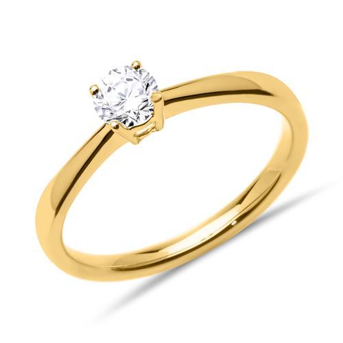 diamant verlobungsring 585er gold vr0140 sl. Black Bedroom Furniture Sets. Home Design Ideas
