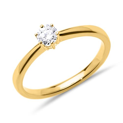 verlobungsring 585er gold diamant vr0142 sl. Black Bedroom Furniture Sets. Home Design Ideas