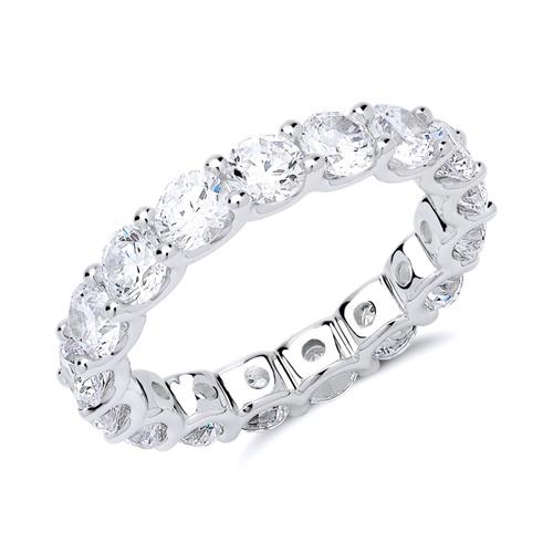 Ring aus Sterlingsilber mit Zirkoniasteinen