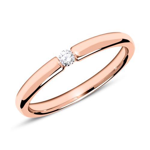 Verlobungsring aus 14K Roségold mit Diamant 0,05 ct.