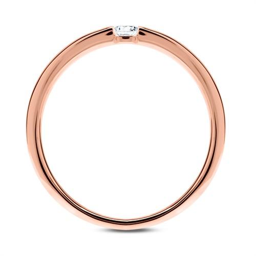Verlobungsring aus 18K Roségold mit Diamant 0,05 ct.