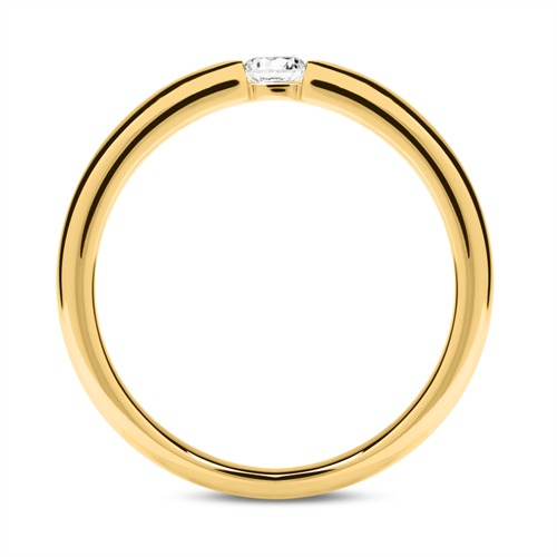 585er Gold Verlobungsring mit Diamant 0,10 ct.