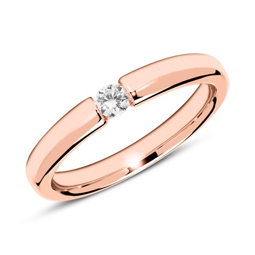 Verlobungsring aus 585er Roségold mit Diamant 0,10 ct.