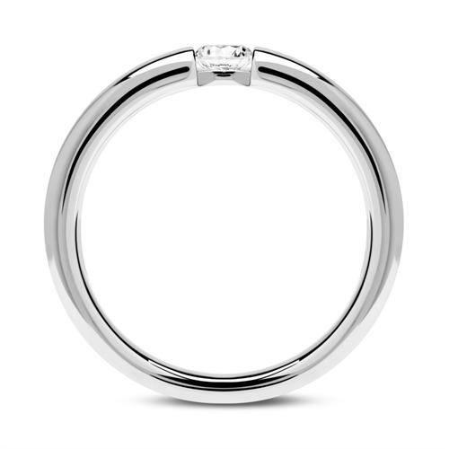 750er Weißgold Verlobungsring mit Diamant 0,15 ct.