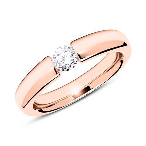 14K Roségold Verlobungsring mit Diamant 0,25 ct.