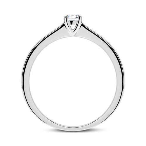 Ring aus 750er Weißgold mit Diamant 0,15 ct.