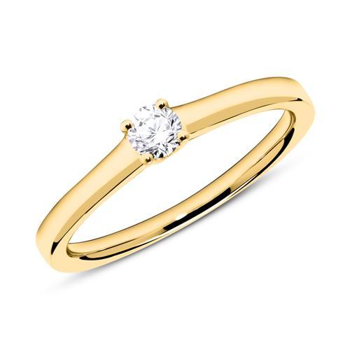18K Gold Verlobungsring mit Diamant 0,15 ct.