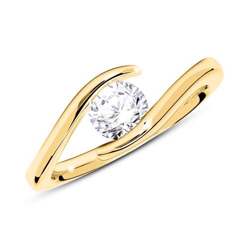 Ring aus 14K Gold mit Diamant 0,50 ct.