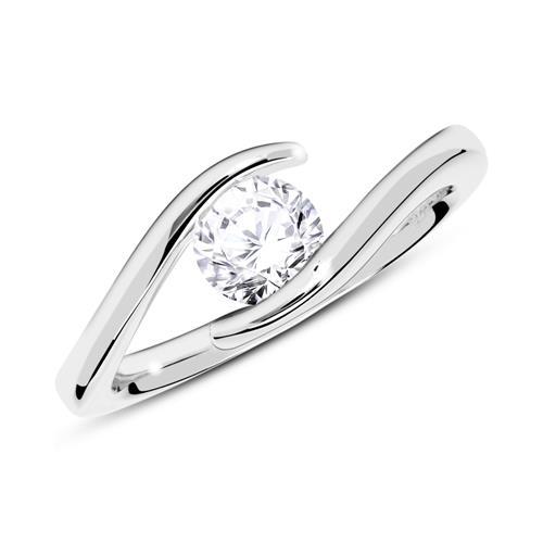750er Weißgold Verlobungsring mit Diamant 0,50 ct.