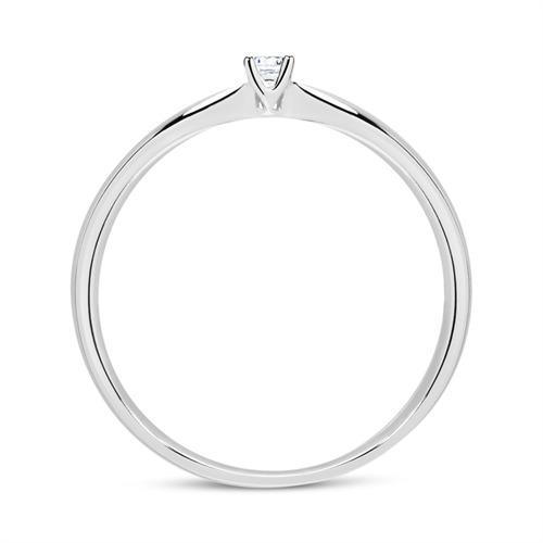 Verlobungsring aus 14K Weißgold mit Diamant 0,05 ct.
