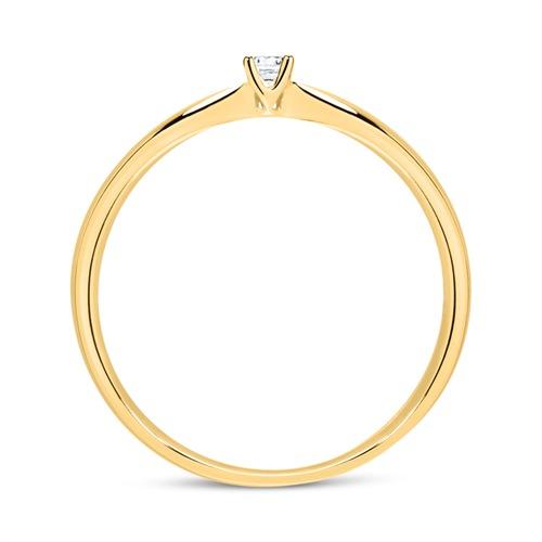 Ring aus 585er Gold mit Diamant 0,05 ct.