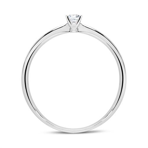 18K Weißgold Verlobungsring mit Diamant 0,10 ct.