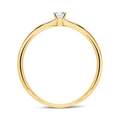 Ring aus 750er Gold mit Diamant 0,10 ct.
