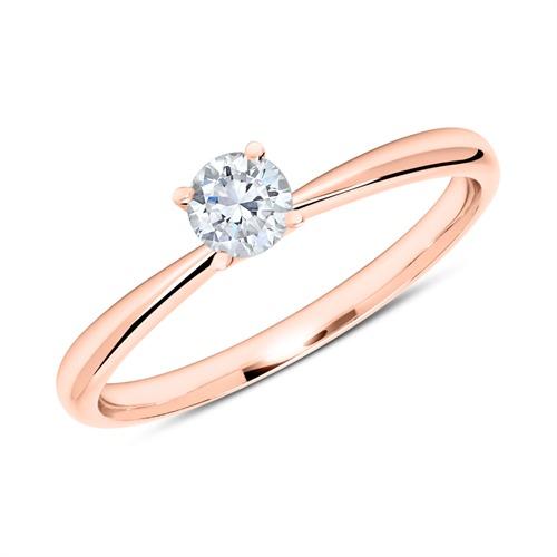 Ring aus 14K Roségold mit Diamant 0,25 ct.