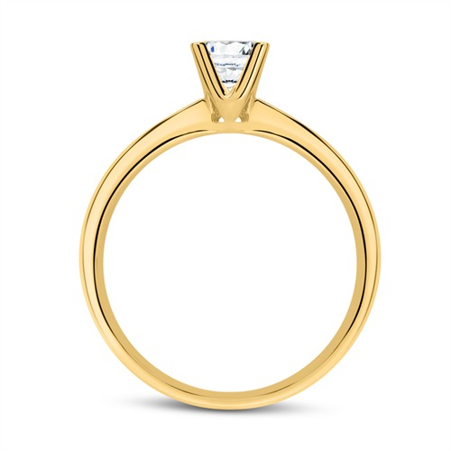Verlobungsring aus 585er Gold mit Diamant 0,50 ct.