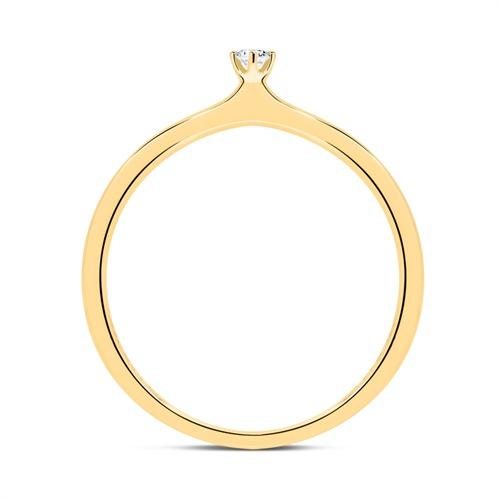 Verlobungsring aus 18K Gold mit Diamant 0,05 ct.
