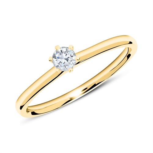 14K Gold Verlobungsring mit Diamant 0,15 ct.