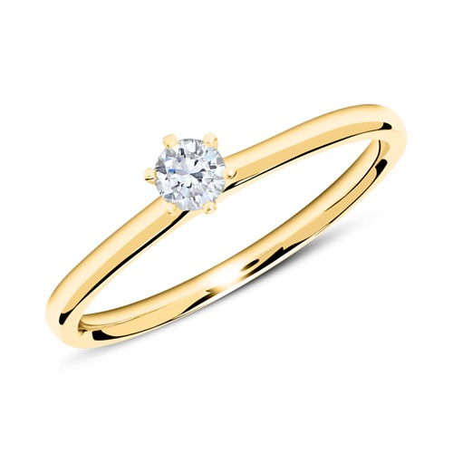 Verlobungsring aus 750er Gold mit Diamant 0,15 ct.