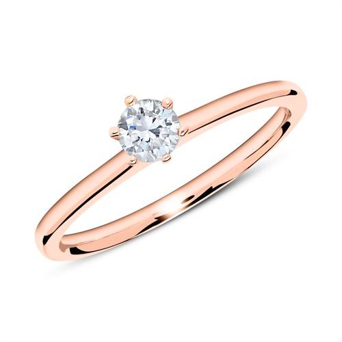 750er Roségold Ring mit Diamant 0,25 ct.