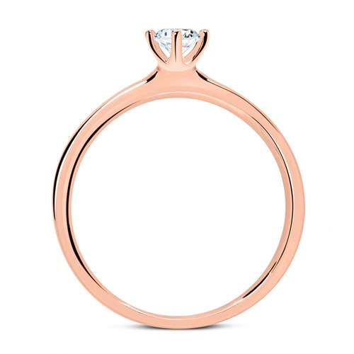 Ring aus 14K Roségold mit Diamant 0,50 ct.