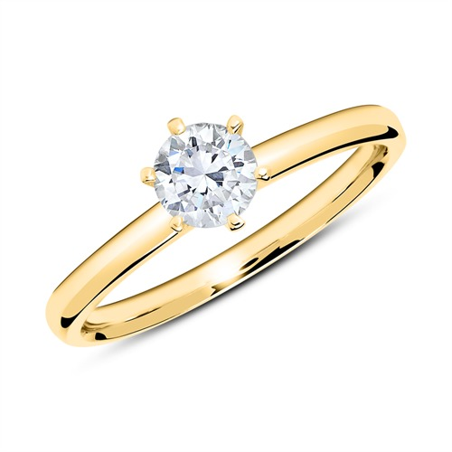 Ringe - Ring aus 750er Gold mit Diamant 0,50 ct.  - Onlineshop The Jeweller