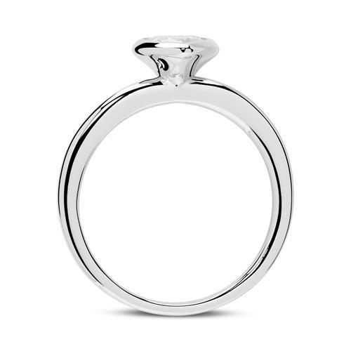 925er Silber Verlobungsring Herz mit Zirkonia