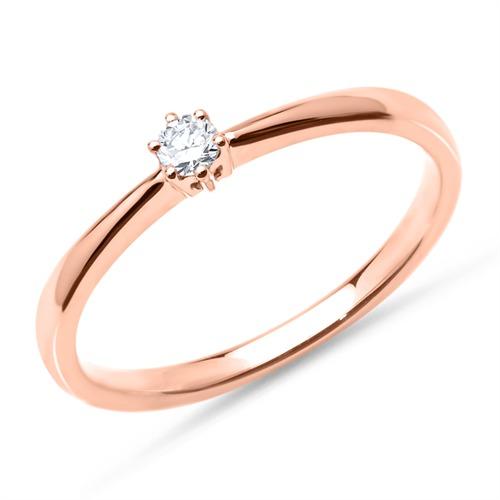 Ring aus 585er Roségold mit Diamant 0,10 ct.