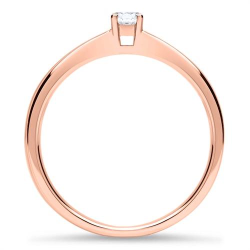 14K Roségold Verlobungsring mit Diamant 0,15 ct.