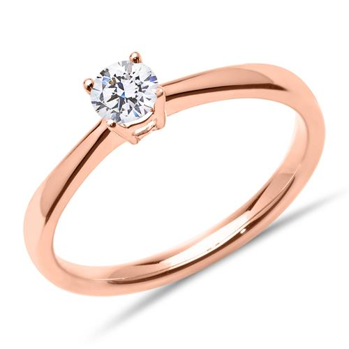 Ringe - Diamantring 0,25 ct. aus 14 karätigem Roségold  - Onlineshop The Jeweller
