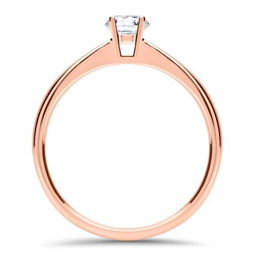 Diamantring 0,25 ct. aus 14-karätigem Roségold