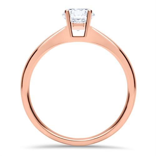 Ring aus 585er Roségold mit Diamant 0,50 ct.