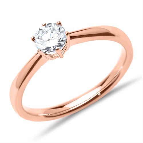 Verlobungsring aus 14K Roségold mit Diamant 0,50 ct.