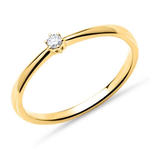 18K Gold Verlobunsgring mit Diamant 0,05 ct.