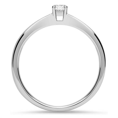 750er Weißgoldring mit Diamant 0,10 ct.