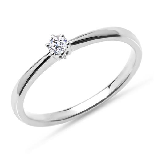 Ring aus 750er Weißgold mit lab-grown Diamant