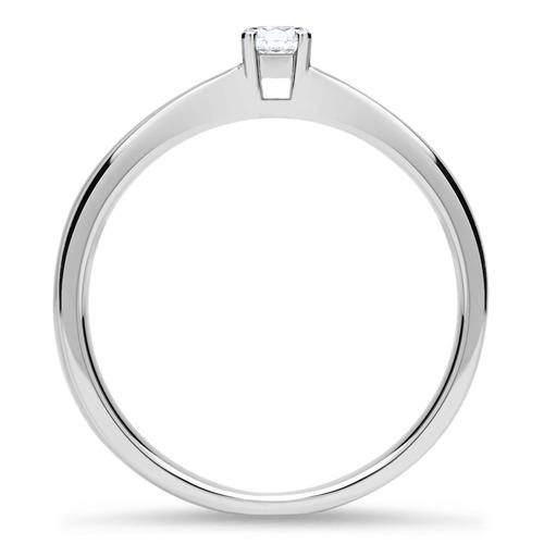 Ring aus 18K Weißgold mit Diamant 0,15 ct.