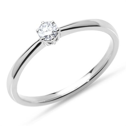 Ring aus 750er Weißgold mit Brillant 0,15 ct.